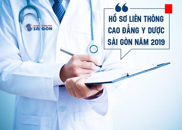 Hồ sơ liên thông cao đẳng y dược sài gòn năm 2019