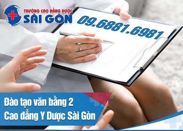 Thông Báo Tuyển Sinh Văn Bằng 2 Cao Đẳng Y Dược Sài Gòn Năm 2019
