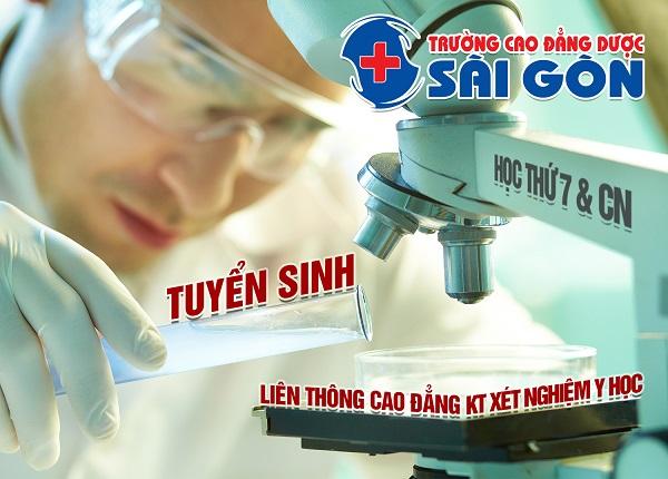 Tuyển Sinh Liên Thông Cao Đẳng Kỹ thuật xét nghiệm Sài Gòn Năm 2019
