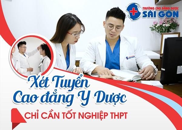 Trường Cao đẳng Dược Sài Gòn xét tuyển Cao đẳng Y Dược chỉ cần tốt nghiệp THPT