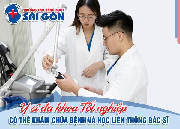 Trường Cao đẳng Dược Sài Gòn đào tạo Y sĩ đa khoa chuẩn hóa tốt nghiệp có thể liên thông Bác sĩ Đa khoa