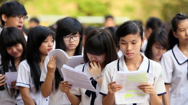 Học sinh tham dự kỳ thi thpt quốc gia năm 2018
