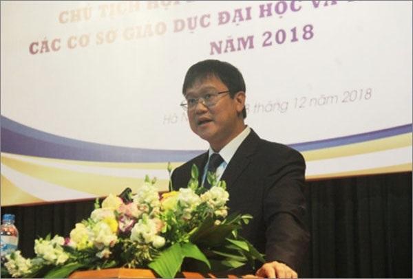 Thứ trưởng Bộ GD&ĐT phát biểu tại hội nghị các trường ĐH năm 2018