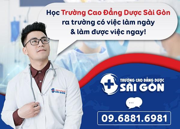 Trường Cao đẳng Dược Sài Gòn đào tạo chuyên nghiệp cam kết sinh viên ra trường có việc làm và làm ngay được việc