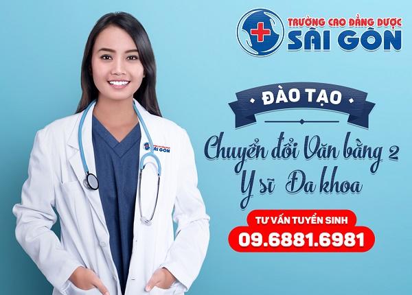Trường Cao đẳng Dược Sài Gòn tuyển sinh Văn bằng 2 Y sĩ đa khoa Sài Gòn