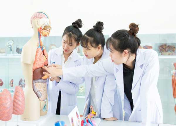 Sinh viên Y khoa thực hành tại một trường Đại học Y