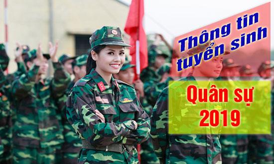 tuyển sinh quân sự 2019 thí sinh được tính điểm chuẩn theo hộ khẩu thường trú