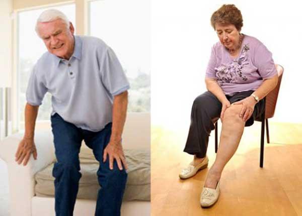 Người già hay mắc các bệnh về xương khớp