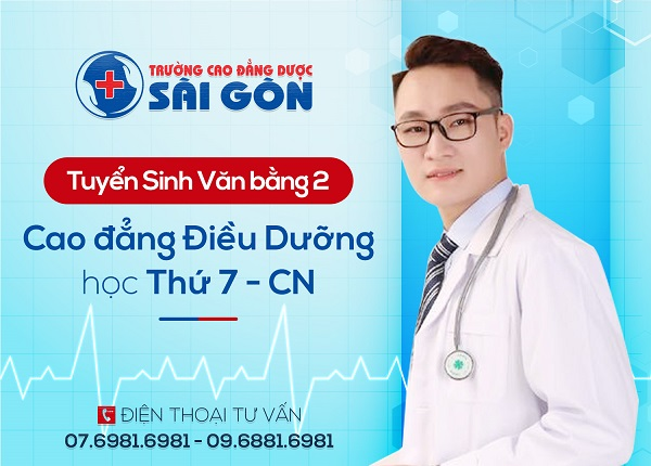 Văn bằng 2 Cao đẳng Điều dưỡng học cuối tuần tại Sài Gòn
