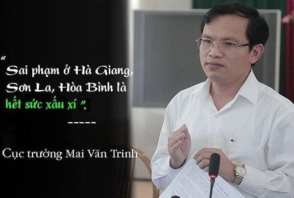 Cục trưởng Mai Văn Trinh nói về sai phạm ở Hà Giang.