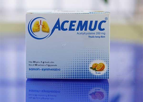 Thuốc Acemuc thường được điều trị các bệnh về đường hô hấp
