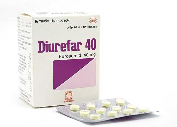 Thuốc Diurefar 40 có tác dụng điều trị tăng huyết áp, phù do tim, gan, thận