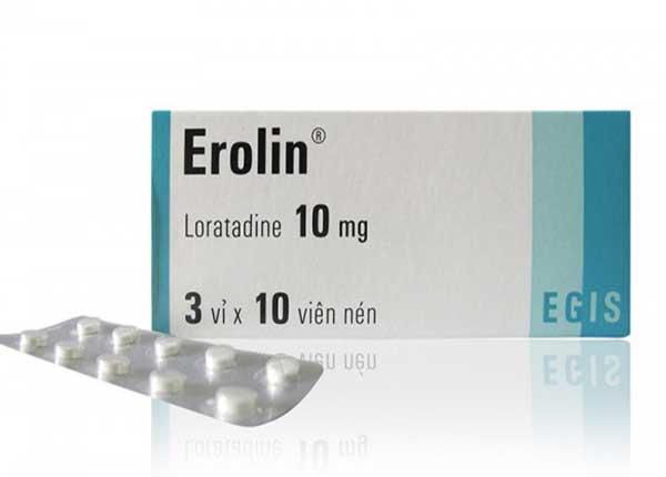 Thuốc Erolin được chỉ định dùng để chữa các bệnh dị ứng