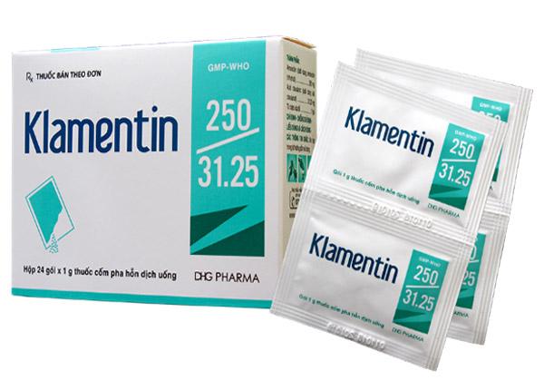 Klamentin được sử dụng để điều trị nhiều bệnh nhiễm trùng