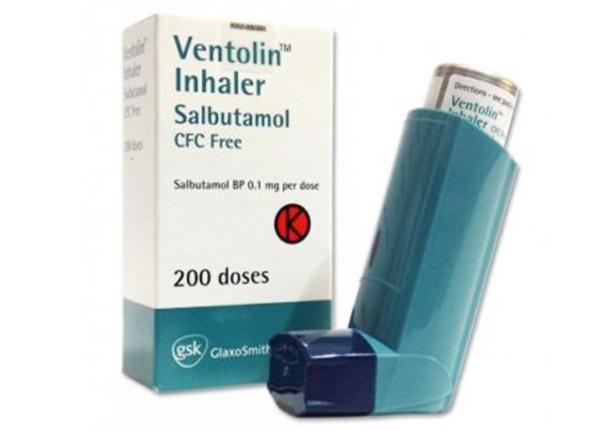 Ventolin thuốc xịt hen suyễn xông mũi họng