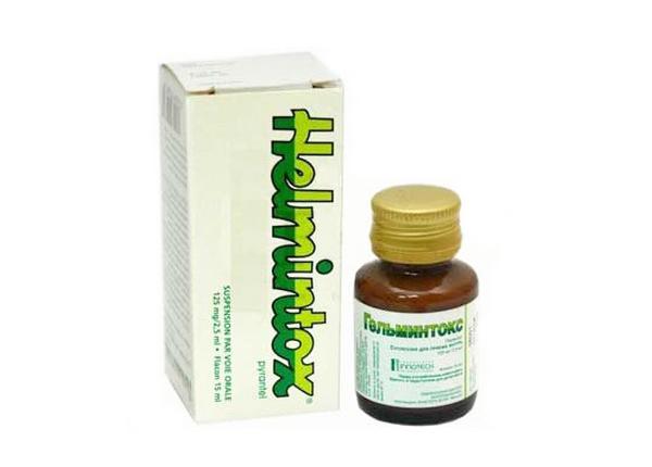 Helmintox® có chứa Pyrantel là một loại thuốc diệt giun