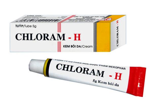 Chloram H là sự kết hợp của Hydrocortisone hoạt chất kháng viêm, có tác dụng giảm sưng tấy