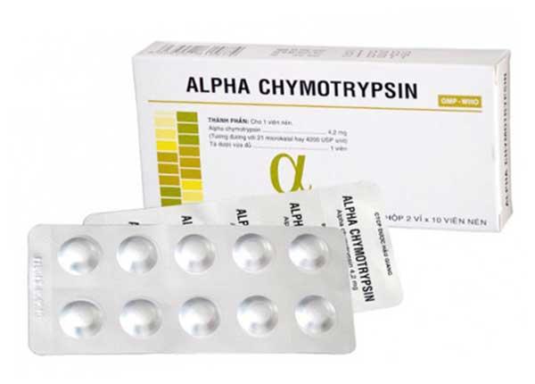 Alpha chymotrypsin điều trị viêm đường hô hấp trên