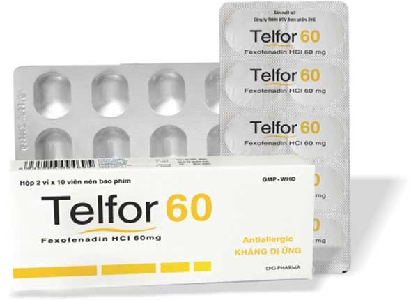 Thuốc Telfor có tác dụng trị viêm mũi theo mùa rất hiệu quả