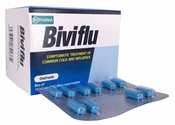 Biviflu là một thuốc được dùng khá phổ biến trong điều trị các bệnh cảm cúm