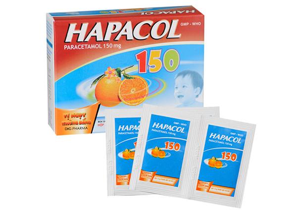 Hapacol 150 là một loại thuốc được sử dụng hiệu quả trong việc giúp hạ sốt giảm đau cho trẻ