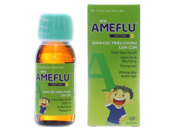 Thuốc New Ameflu Daytime chỉ định làm giảm các triệu chứng trong cảm lạnh và cảm cúm
