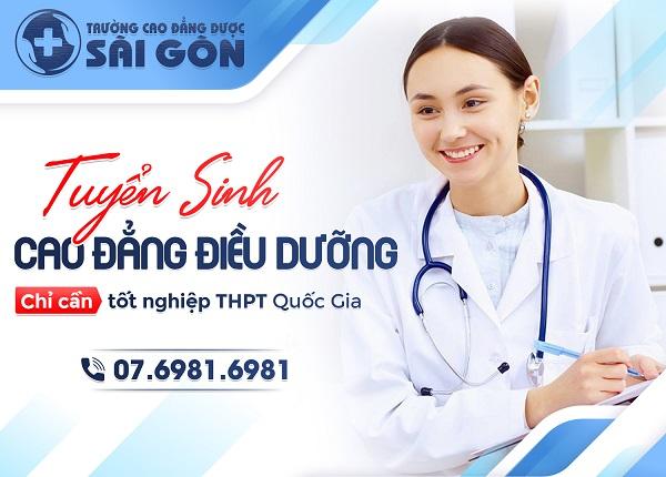 Trường Cao đẳng Dược Sài Gòn tuyển sinh Cao đẳng Điều dưỡng năm 2019