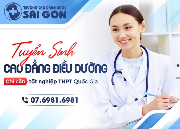 Trường Cao đẳng Dược Sài Gòn tuyển sinh Cao đẳng Điều dưỡng Sài Gòn năm 2019