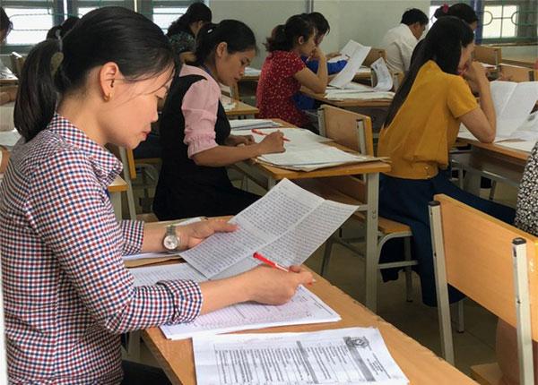 Phần lớn thí sinh thi môn văn chỉ đạt điểm từ 5-6