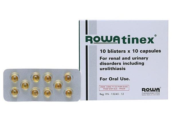 Thuốc Rowatinex có tác dụng bào mòn và làm tan sỏi đẩy sỏi từ hệ thống thận ra khỏi cơ thể