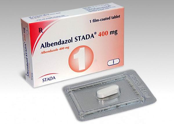 Albendazole 400mg là loại thuốc có tác dụng điều trị nhiễm trùng sán dây