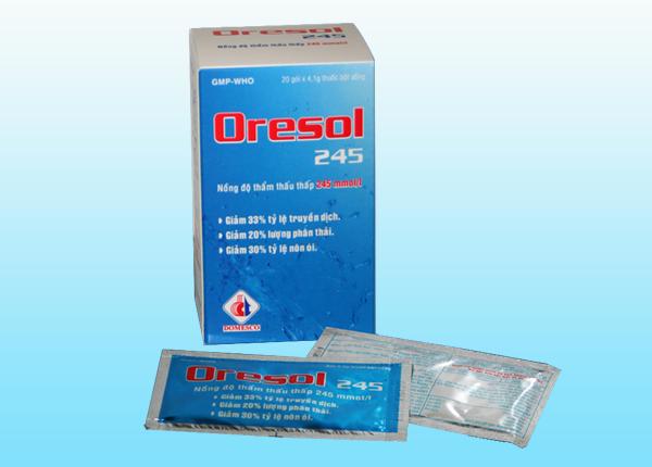 Oresol là dung dịch bù nước và điện giải cho cơ thể