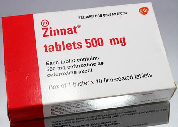 Thuốc Zinnat được sử dụng để điều trị nhiễm khuẩn