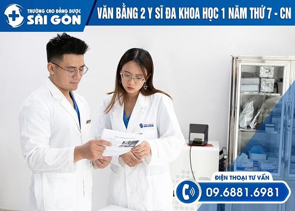 Trường Cao đẳng Dược Sài Gòn đào tạo Vb2 Y sĩ đa khoa ngoài giờ hành chính