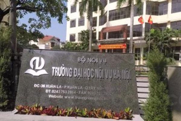 Trường Đại học Nội vụ là 1 trong 4 trường bị thanh tra công tác tuyển sinh