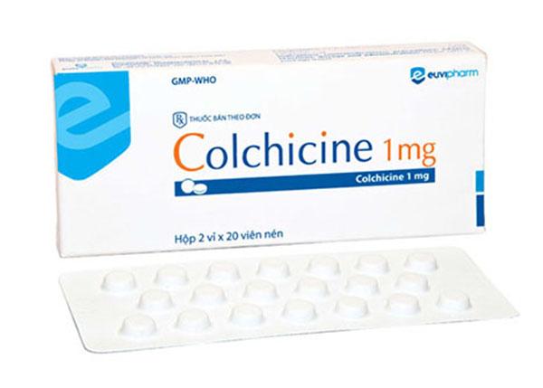Colchicin được sử dụng để ngăn chặn hoặc điều trị cơn gút cấp tính