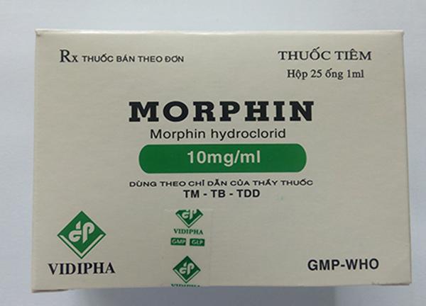 Morphine là thuốc giảm đau được dùng trong những cơn đau nặng