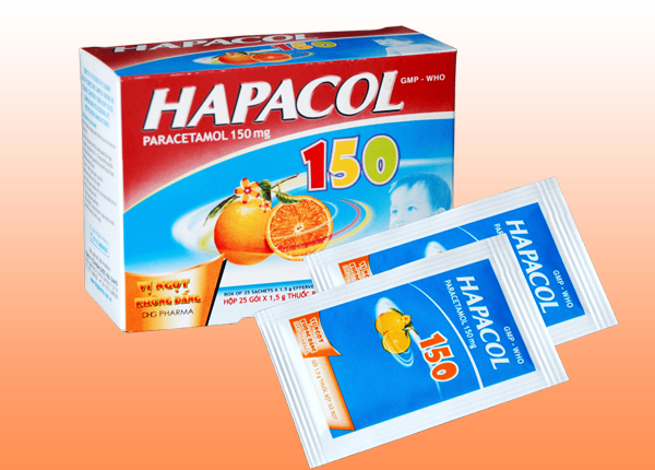 Thuốc Hapacol 150mg có tác dụng giảm đau, hạ sốt cho trẻ