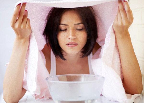 Xông hơi giúp làm giảm nghẹt mũi hiệu quả