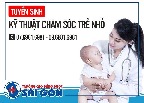 Trường Cao Đẳng Dược Sài Gòn đào tạo Kỹ năng chăm sóc trẻ uy tín