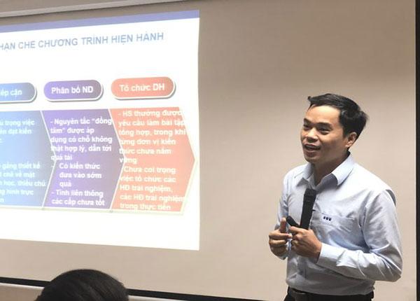 TS Phạm Sỹ Nam đưa ra nhiều lý giải về những điểm đổi mới trong chương trình phổ thông mới môn Toán