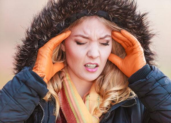Làm thế nào để giảm đau đầu do trời lạnh?