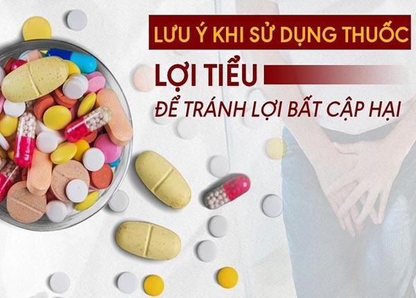 Lưu ý khi dùng nhóm thuốc lợi tiểu giảm K+ máu